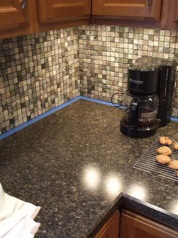 Seamless laminate corner turn in countertop kitchen for Seamless quartz countertops