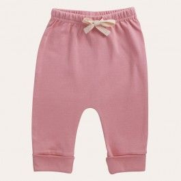 As babies spend most of their first weeks and months drifting in and out of sleep, they need comfortable clothes. These pants have soft elastic around the waist and a drawstring to ensure the perfect fit. Featuring a cuffed tapered leg that can be folded up or down.