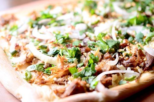 My husband will kill for this! Pulled Pork Pizza