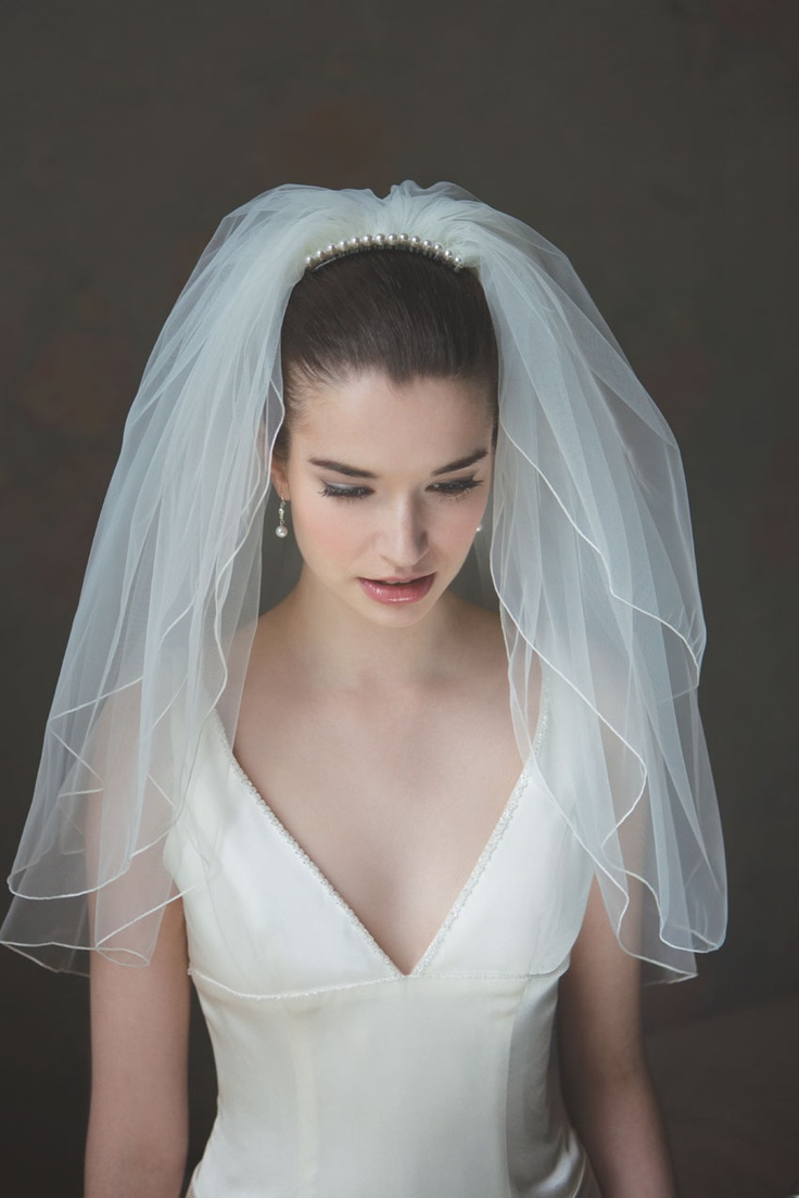 31 best wedding veils shoulder length images on pinterest for Wedding dresses and veils