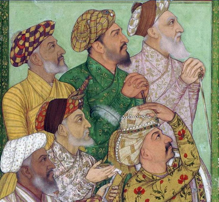 Nobles of Shah Jahan at Ali Mardan Khans honoring ceremony at Lahore Nov 29, 1638 and receiving a large Persian embassy
