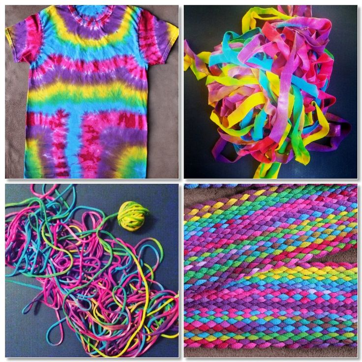 Transforming a t-shirt into an inkle-woven guitar strap. ~Annie MacHale #inkle #weaving #recycle #upcycle #tiedye #aspinnerweaver #anniemachale #tshirtyarn #color #bandweaving