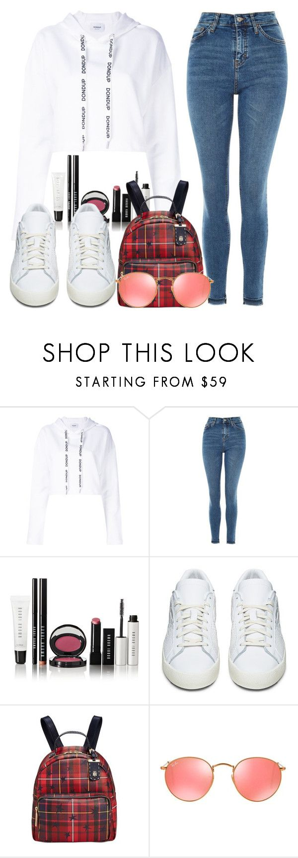"""""""samuel's concert."""" by inlovewith4idiots ❤ liked on Polyvore featuring Dondup, Topshop, Bobbi Brown Cosmetics, adidas Originals, Tommy Hilfiger and Ray-Ban"""