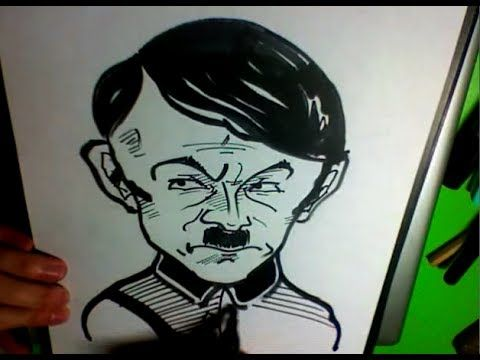 Drawing: ADOLF HITLER CARICATURE! [3min]