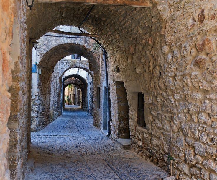 Arches in Mesta village, Chios