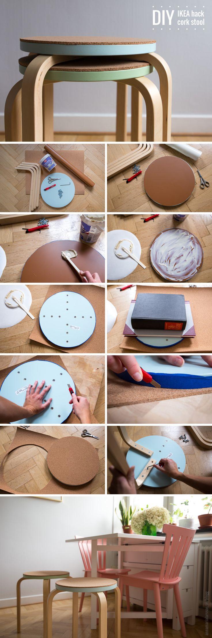 Banqueta de corcho estilo IKEA - Muy Ingenioso