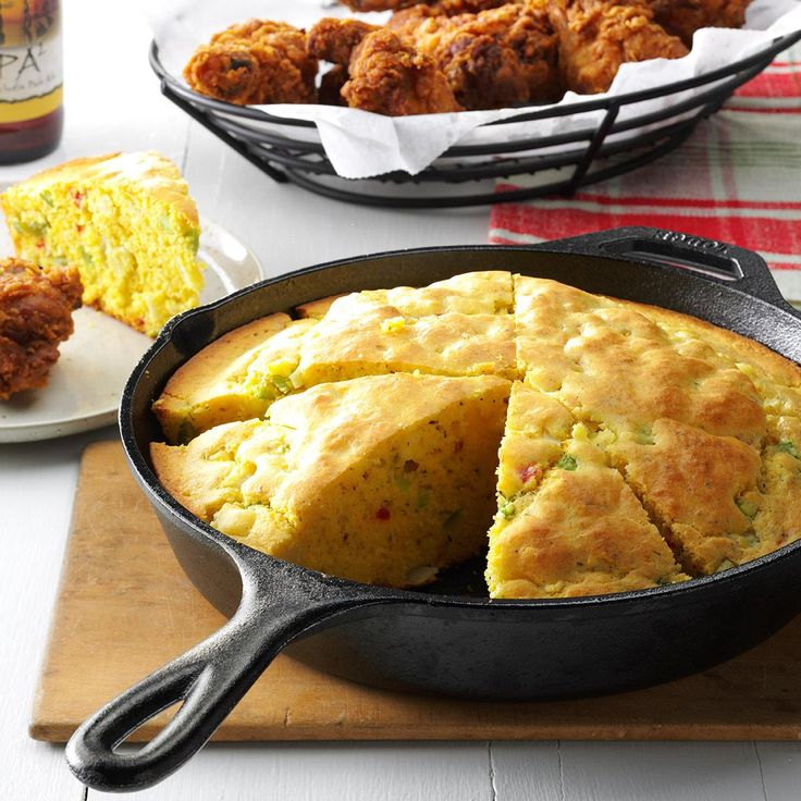 Skillet Herb Bread Recipe -WE HAD a lot of family get-togethers when I was growing up. My grandmother, aunts and mom were all good cooks, and each had her own specialty when it came to bread. But Mom's was my favorite - she started making it 40 years ago. The flavors call to mind the taste of corn bread stuffing! -Shirley Smith, Yorba Linda, California