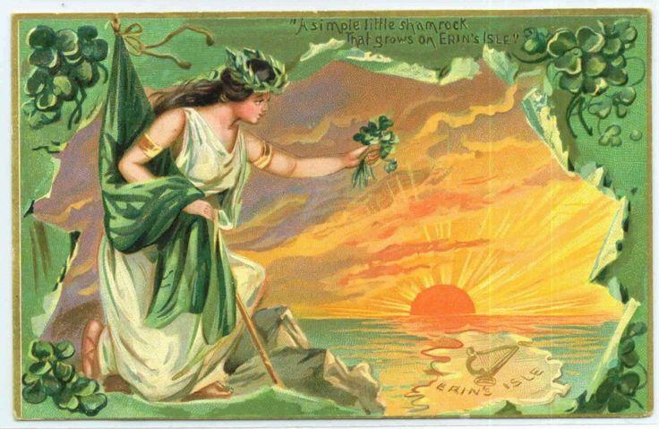 women gender vintage greeting and postcards shows