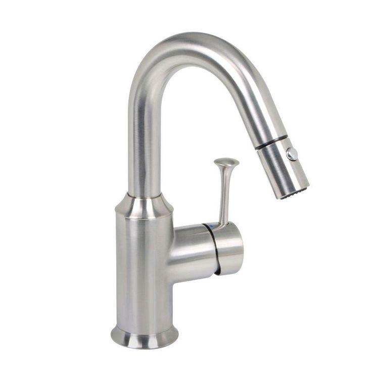 American Standard Pekoe Single-Handle Pull-Down Sprayer Bar Faucet in Stainless Steel 466072