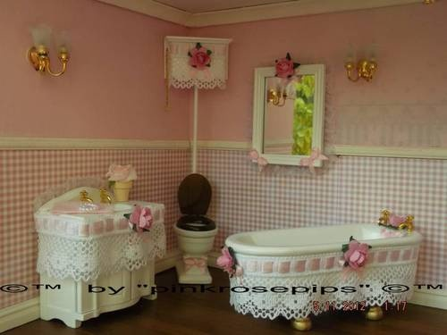 Shabby Chic Doll House Furniture OOAK Bathroom Bath Toilet Accessories    eBay. 253 best Doll House Accessories images on Pinterest