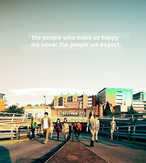 the people who make us happy, are never the people we expect. i'm going into skins remission.