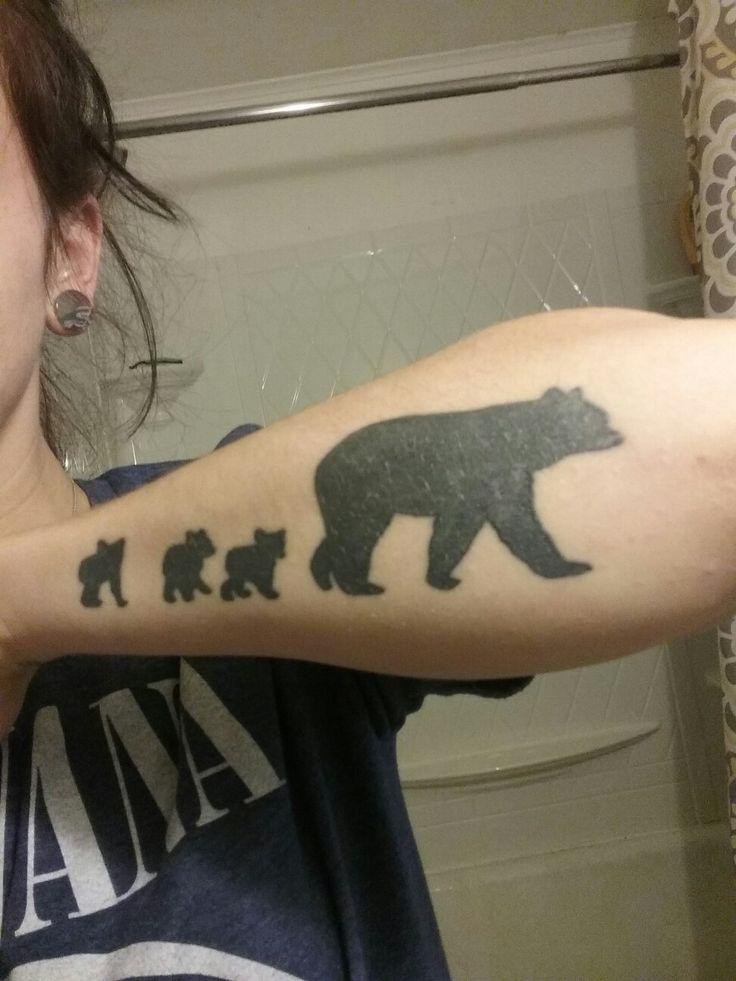Bear tattoo for kids