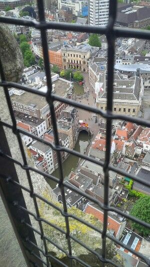 Utrecht view from Dom tower. The Netherlands