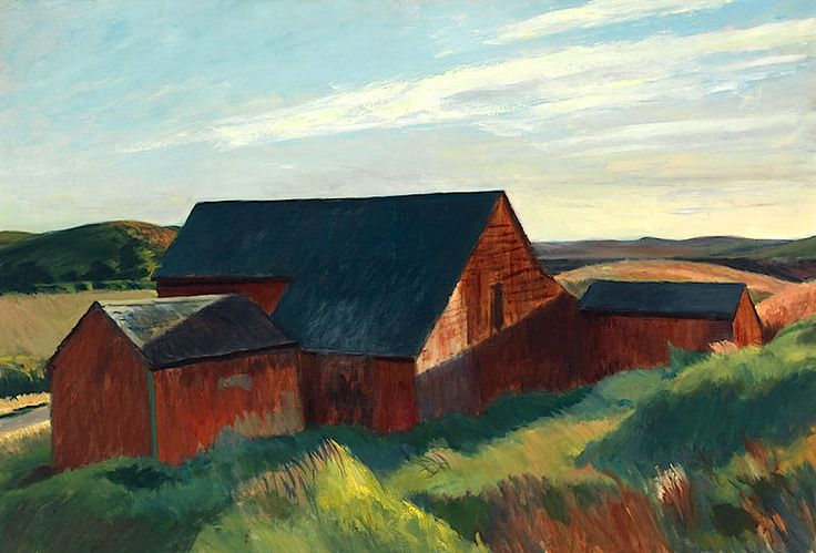 Edward Hopper, Cobb's Barns, South Truro, 1930-1933