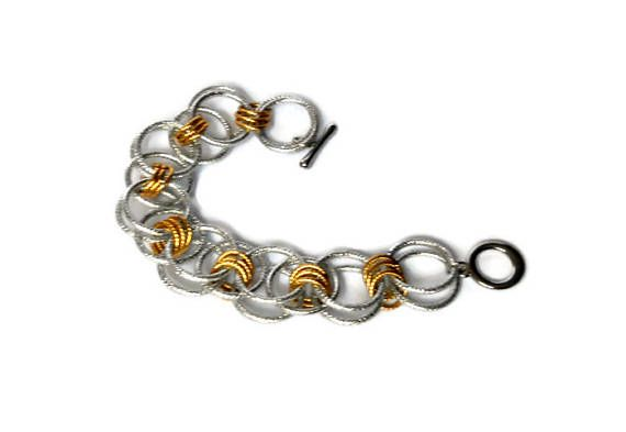 Chain maille jewelry Two color Jump ring Bracelet