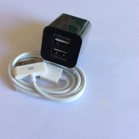 Cargador doble usb+cable ipad/ipod/iphone 3 3gs 4, PRODUCTOS NUEVOS SE ENVIA A TODO CHILE Whatsapp +569 9-7759634 VALOR $4.500