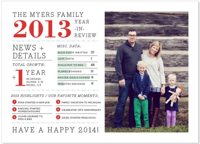 33 best year in review images on Pinterest Christmas cards - christmas card layout