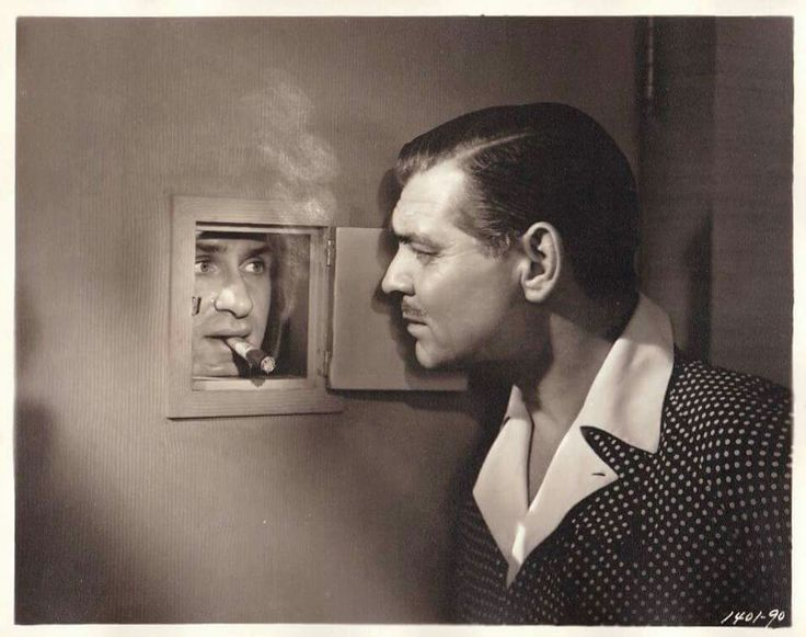 Keenan Wynn & Clark Gable, THE HUCKSTERS (1947).