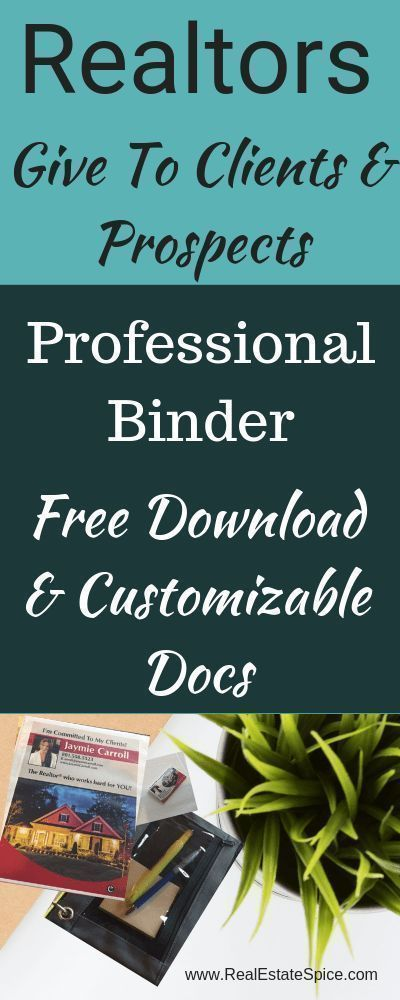 I'm surprised more Realtors aren't doing this. Give a Professional Real Estate Binder to your clients & prospects. Free Download with Customizable Docs, Checklists & Visuals.