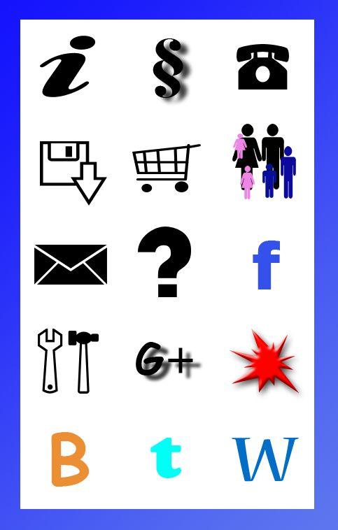 Kostenloses Icon-Set - Buchstaben und Formen