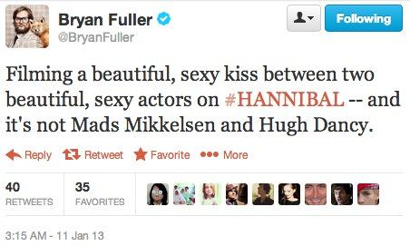 Image result for bryan fuller hannigram tweets