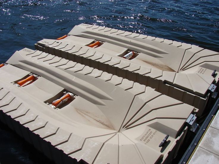 PolyDock Products ShorePort Floating Jet Ski PWC Dock #PolyDockProducts