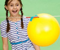 This easy DIY activity is great to show your kids the power of jet propulsion! They'll love watching the rocket (balloon) fly across the room!