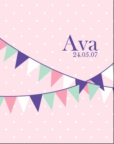 Girls Personalised Bunting Print - by ColourandSpice on madeit