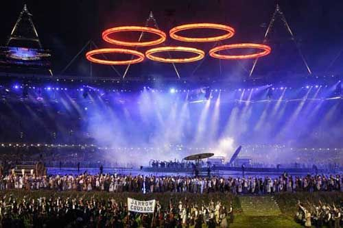 London 2012 Summer Olympics - Opening ceremony Olympic rings
