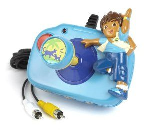 Jakks Go Diego Go TV Game by Jakks. $16.00. Plug and play TV game. Requires 4 AA batteries which is not included. Joystick with built-in video game featuring your favorite characters. Rated e for everyone. Plugs into the A/C jacks on your TV. From the Manufacturer                Four missions await Diego as he helps the animals of the Rainforest.  Help Diego sort the food for the hungry animals.  Ride with Diego as he braves the river in order to return the baby anim...
