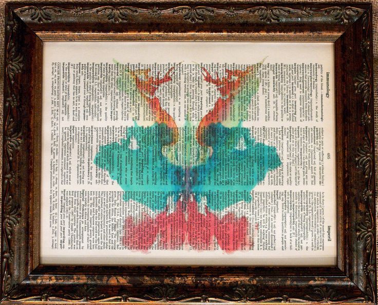 Rorschach Ink Blot 9 Art Print on Dictionary Book Page by apageintime on Etsy https://www.etsy.com/listing/88923206/rorschach-ink-blot-9-art-print-on