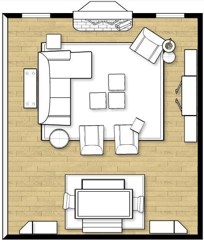Ok, this is a large room(19x20!) but still...ideas! How To Arrange Furniture In A Family Room