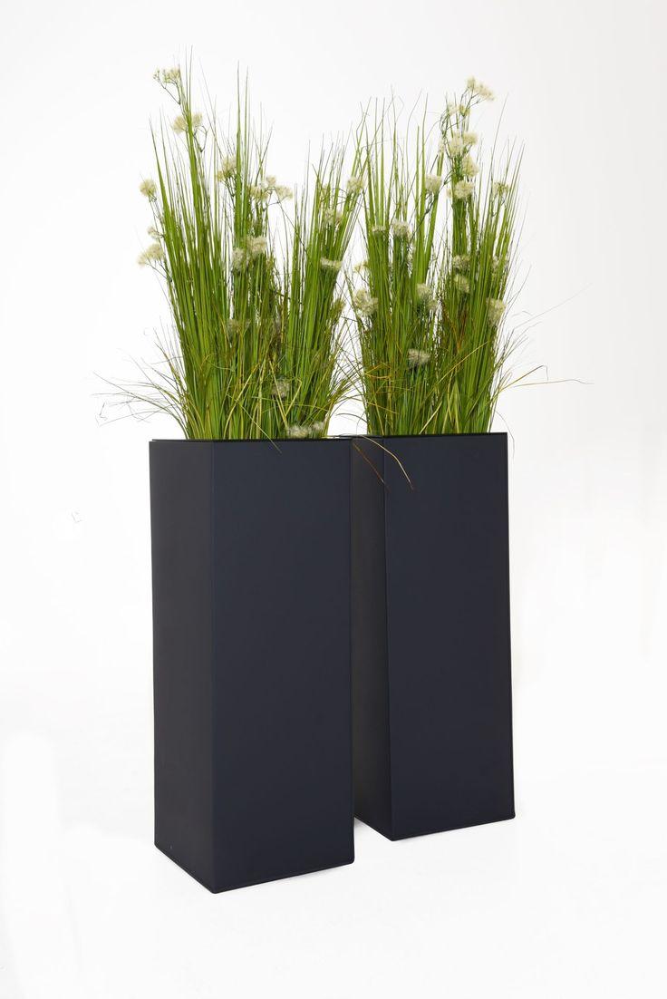 Pflanzkubel Blumenkubel Zink Block Anthrazit In 2020