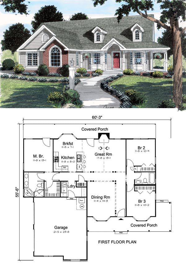 The concept behind house plan 24738 was simple; design an #AffordableHome with as many upscale features as possible. We wanted to cater to the first time home buyer, or the growing family needing more space, without sacrificing budget. We believe we hit a home run with this design. Read more from the Family Home Plans #Blog : http://blog.familyhomeplans.com/2013/08/budget-friendly-family-home-plan/
