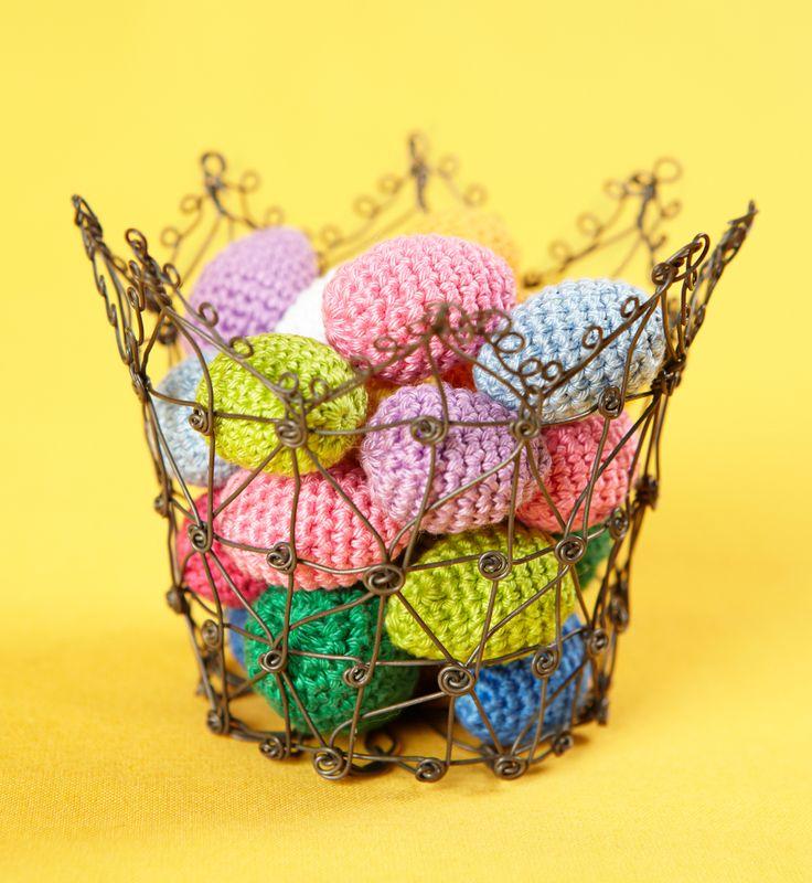 Lankamaailma - virkattu pääsiäismuna pääsiäinen virkkaus ohje