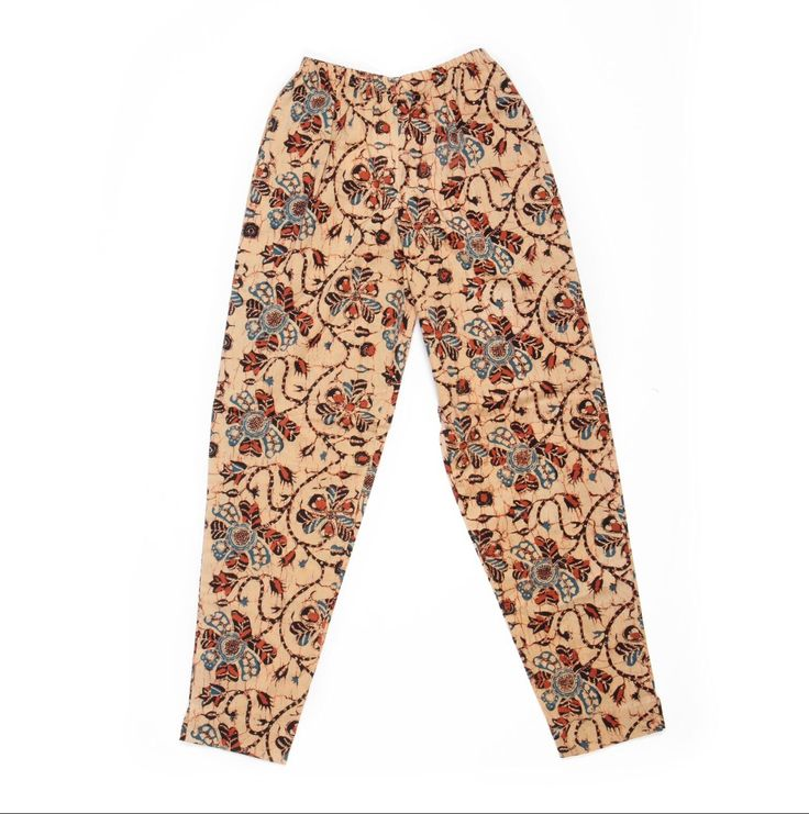 Batik2 Traditional vintage floral print trousers Screen printed by hand Available in sizes XS,S,M,L £39.00+p&p www.batikbali.co.uk