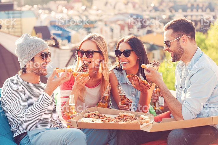 Pizza time. royalty-free stock photo
