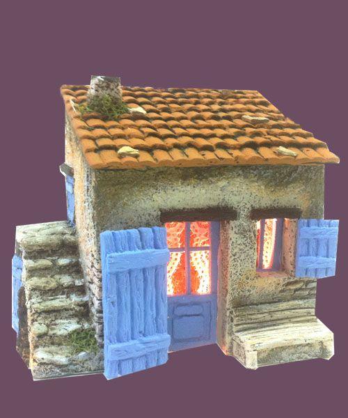 Santons Atelier de Fanny-Santons et Crèches de Noël-Santons de Provence - Cabanon simple - 40.00 EUR