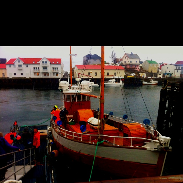 On board Symra in Lofoten