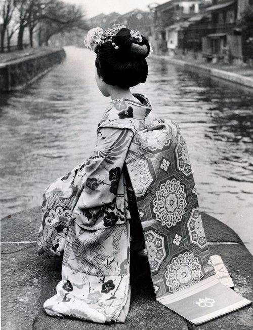 Maiko Girl, a Japan Air Lines press photograph, 1966