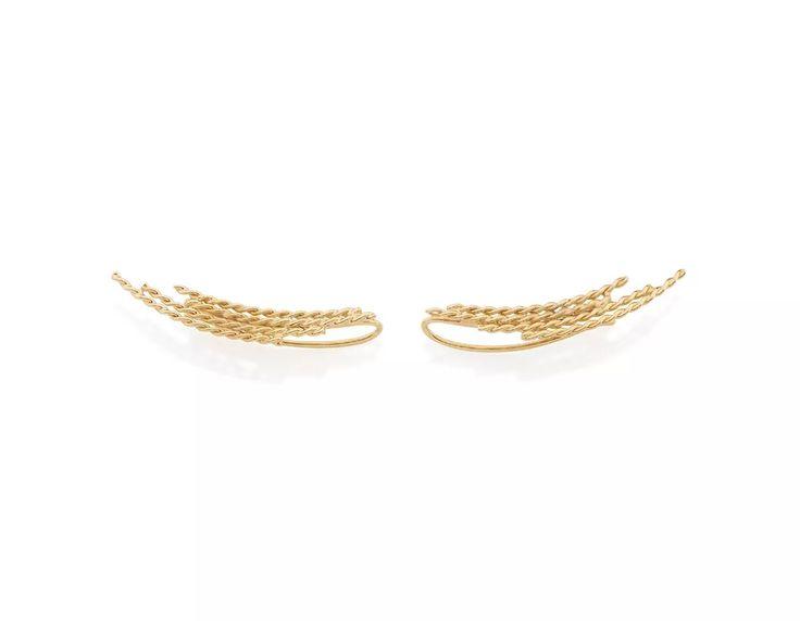 Brinco Ear Cuff Fios Folheado Ouro Rommanel Fios Ent 525349 - R$ 67,00 em Mercado Livre
