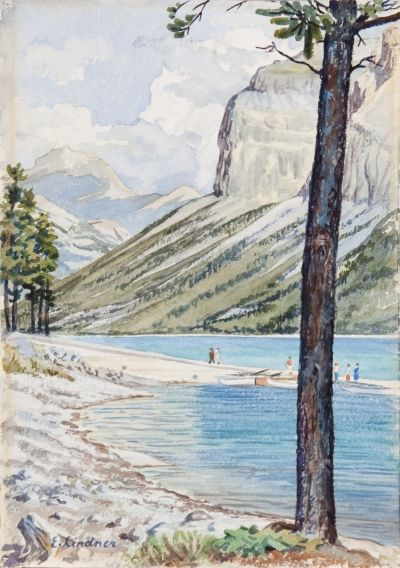 Mountain Valley Scene by Ernest Lindner