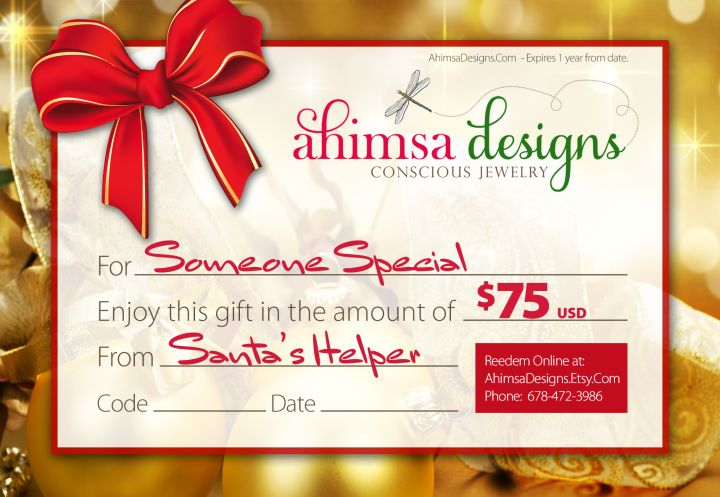 Last Minute Stocking Stuffers SAME DAY DELIVERY!   Ahimsa Designs - Artisan Vegan Jewelry Designs by Kristen Anderson