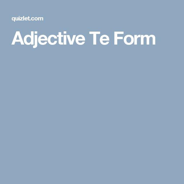 Les 25 meilleures idées de la catégorie Adjective form sur ...