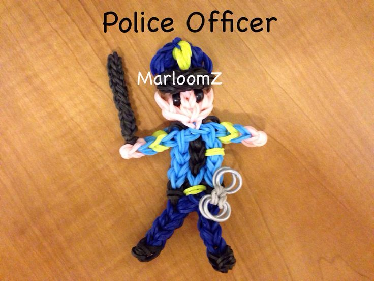 Rainbow Loom Police Officer- MarloomZ Creations - You have the right to remain looming. Any creation you steal can and will be used against you on YouTube.  You have the right to talk to a loomer and have him present with you while you are looping. If you cannot afford to hire one, one will loomed to represent you.