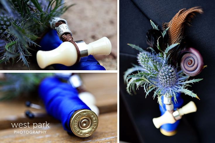 wedding bouquets with duck calls | ... duck call, bird band, and feather. So unique and gorgeous! Love it