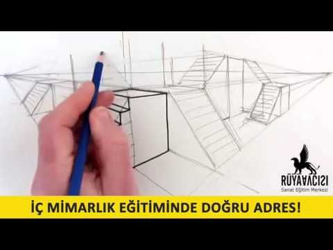 ic mimarlik cizim dersleri cizim teknikleri ruya avcisi resim kursu - YouTube