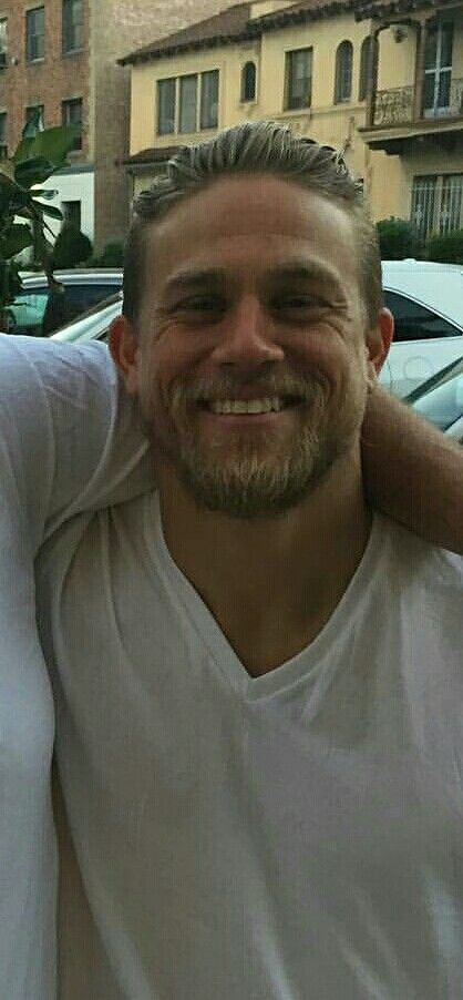 Charlie Hunnam...hottest man on the planet.  Look at that smile