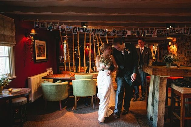 Intimate and Romantic DIY Wedding In An Old English Pub - Bridal Musings Wedding Blog