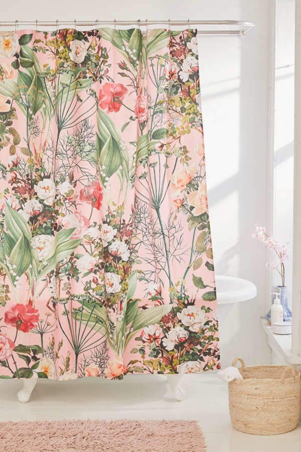 Deny Designs 83 Oranges For Deny Botanic Shower Curtain With Images Unique Shower Curtain Floral Shower Curtains Cute Shower Curtains